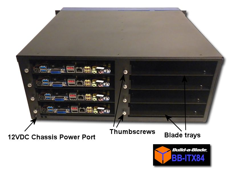 Build-a-blade BB-ITX84 blade server system for Thin Mini ITX